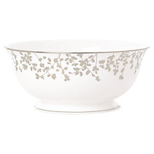 Buy kate spade new york Gardener St Platinum Bone China Serve Bowl, Silver/ White Online at johnlewis.com