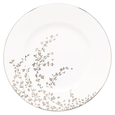 kate spade new york Gardener St Platinum Bone China Dinner Plate, Silver/ White