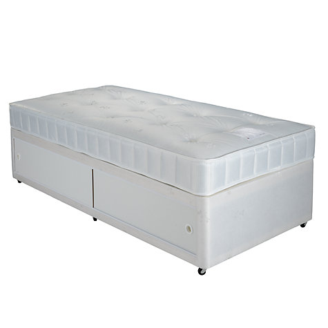 Buy john lewis the basics collection comfort slide store for Single divan bed base with storage