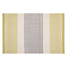 Buy John Lewis Polka Placemat, Citrine/ Grey Online at johnlewis.com