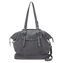 Buy Mint Velvet Stevie Leather Tote Bag, Grey Online at johnlewis.com