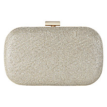 Buy Karen Millen Signature Glitter Clutch, Gold Online at johnlewis.com