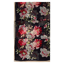 Buy Hobbs Tea Rose Silk Scarf, Navy/Multi Online at johnlewis.com