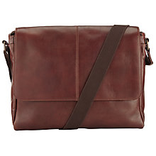 Buy John Lewis Gladstone Messenger Bag, Brown Online at johnlewis.com