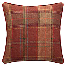 Buy Mulberry Home Shetland Plaid Cushion, Russet Online at johnlewis.com