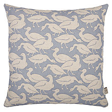 Buy Emily Bond Water Ducks Cushion, Natural / Blue Online at johnlewis.com