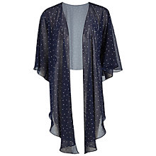 Buy Gina Bacconi Spot Chiffon Shawl, Navy/White Online at johnlewis.com