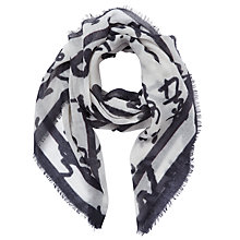 Buy Baum und Pferdgarten Lowell Likeit Print Scarf, White/Navy Online at johnlewis.com