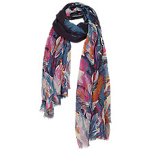 Buy Fat Face Feather Print Scarf, Multi Online at johnlewis.com