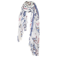 Buy Fat Face Border Butterfly Scarf, Blue/Multi Online at johnlewis.com