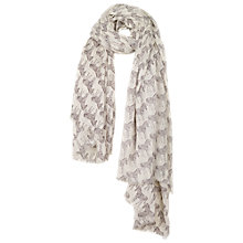 Buy Fat Face Zebra Print Scarf, White Online at johnlewis.com