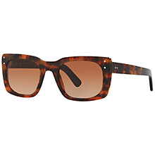 Buy Burberry BE4223 Gradient Square Sunglasses, Tortoise Online at johnlewis.com