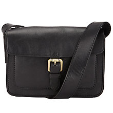 Buy John Lewis Penny Leather Across Body Bag, Black Online at johnlewis.com