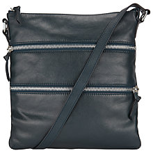 Buy John Lewis Harriet Leather Triple Zip Across Body Bag Online at johnlewis.com