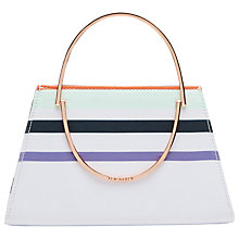 Buy Ted Baker Sammena Tribal Stripe Clutch Bag, Purple Online at johnlewis.com