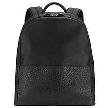Buy Kin by John Lewis Katie Mix Texture Backpack, Black Online at johnlewis.com