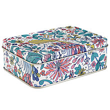 Buy John Lewis Peacock Storage Tin, Multi Online at johnlewis.com