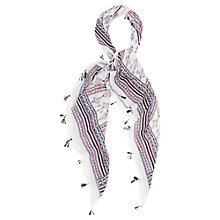 Buy Oasis Dakota Tile Tassel Scarf, Multi Online at johnlewis.com