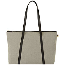 Buy Jaeger Julianne Canvas Small Tote Bag, Black Online at johnlewis.com