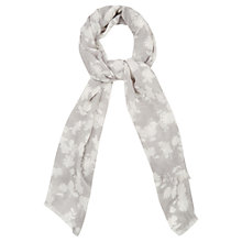 Buy Oasis Honey Flower Scarf, Mid Grey Online at johnlewis.com