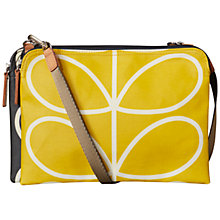 Buy Orla Kiely Giant Across Body Double Pouch, Black / Yellow Online at johnlewis.com