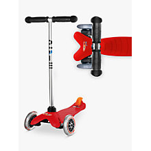Buy Micro Mini Micro T-Bar Scooter, Red Online at johnlewis.com
