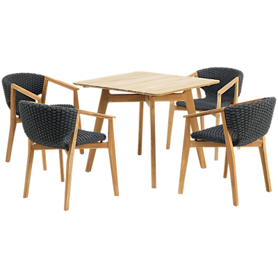 Ethimo Knit Dining Set 4 Armchairs