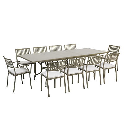 Ethimo Elisir 10-Seater Extendible Dining Table, Dining Chairs & Armchairs