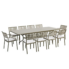 Buy Ethimo Elisir 10-Seater Extendible Dining Table, Dining Chairs & Armchairs Online at johnlewis.com