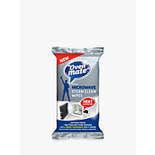 Buy Oven Mate Steam Clean Microwave Wipes, Pack of 25 Online at johnlewis.com