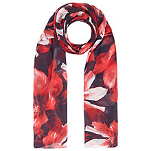 Buy Windsmoor Floral Print Scarf, Red/Multi Online at johnlewis.com