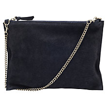 Buy Jigsaw Pochette With Chain, Navy Online at johnlewis.com