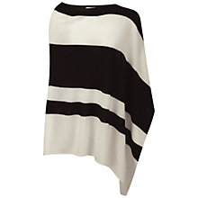Buy Pure Collection Dalby Gassato Cashmere Asymmetric Poncho, Soft White/Black Online at johnlewis.com