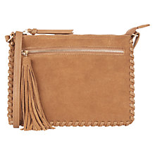 Buy Oasis Suede Patch Whipstitch Across Body Bag Online at johnlewis.com