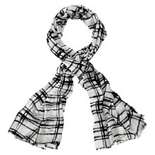 Buy Pure Collection Fairfax Scarf, Black/Check Online at johnlewis.com