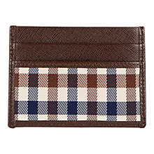 Buy Aquascutum Club Check Double Credit Card Holder, Brown Online at johnlewis.com
