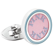 Buy Thomas Pink Clifton Cufflinks, Pale Blue/Pink Online at johnlewis.com
