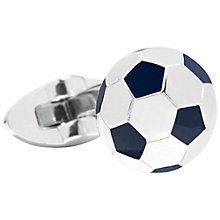 Buy Thomas Pink Football Cufflinks, Silver/Navy Online at johnlewis.com