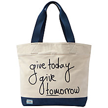 Buy TOMS Give Today Give Tomorrow Signature Tote Bag, Natural Online at johnlewis.com