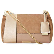 Buy Dune Datch Patchwork Shoulder Bag, Taupe Online at johnlewis.com