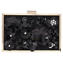 Buy Miss KG Hava Embellished Suedette Clutch Bag, Black Online at johnlewis.com