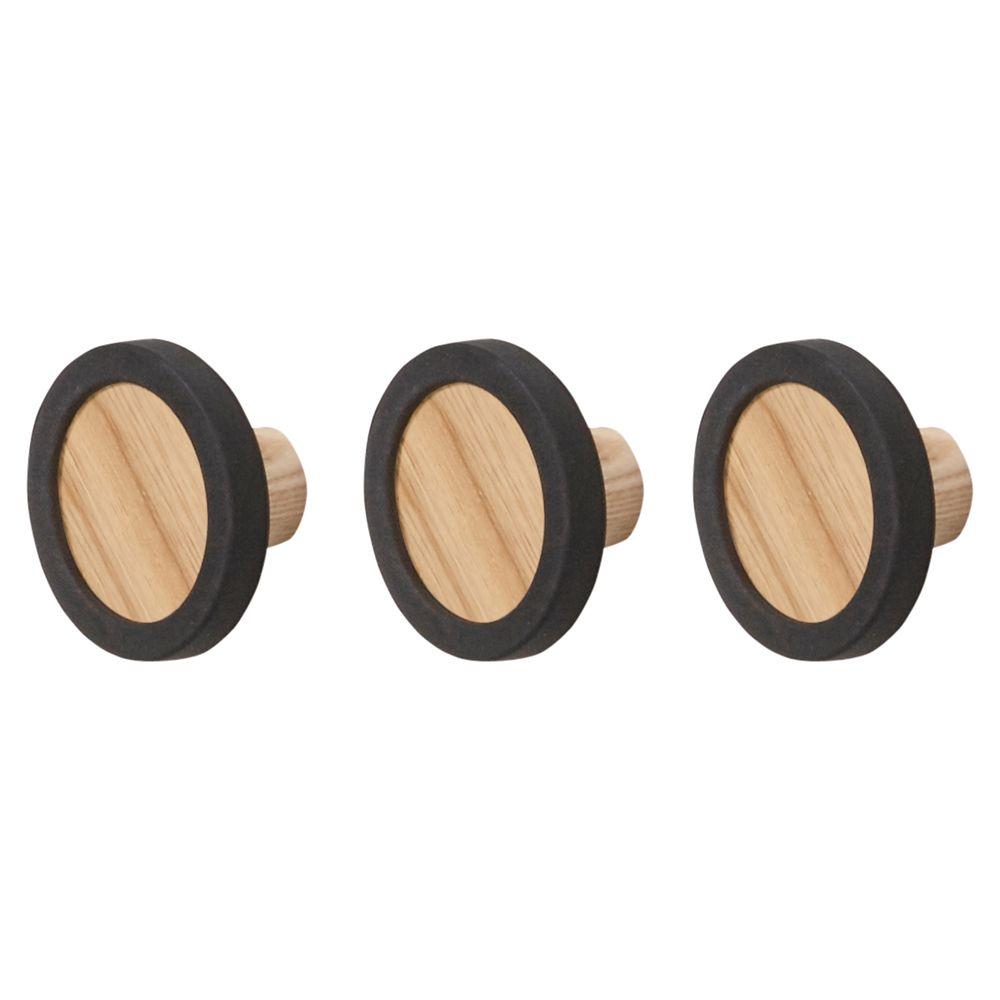 Umbra Umbra Hub Hooks, Set of 3, Black