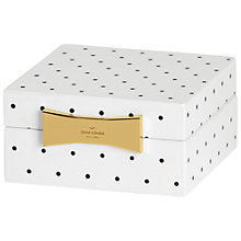 Buy kate spade new york Garden Drive Square Jewellery Box, Spotted Online at johnlewis.com