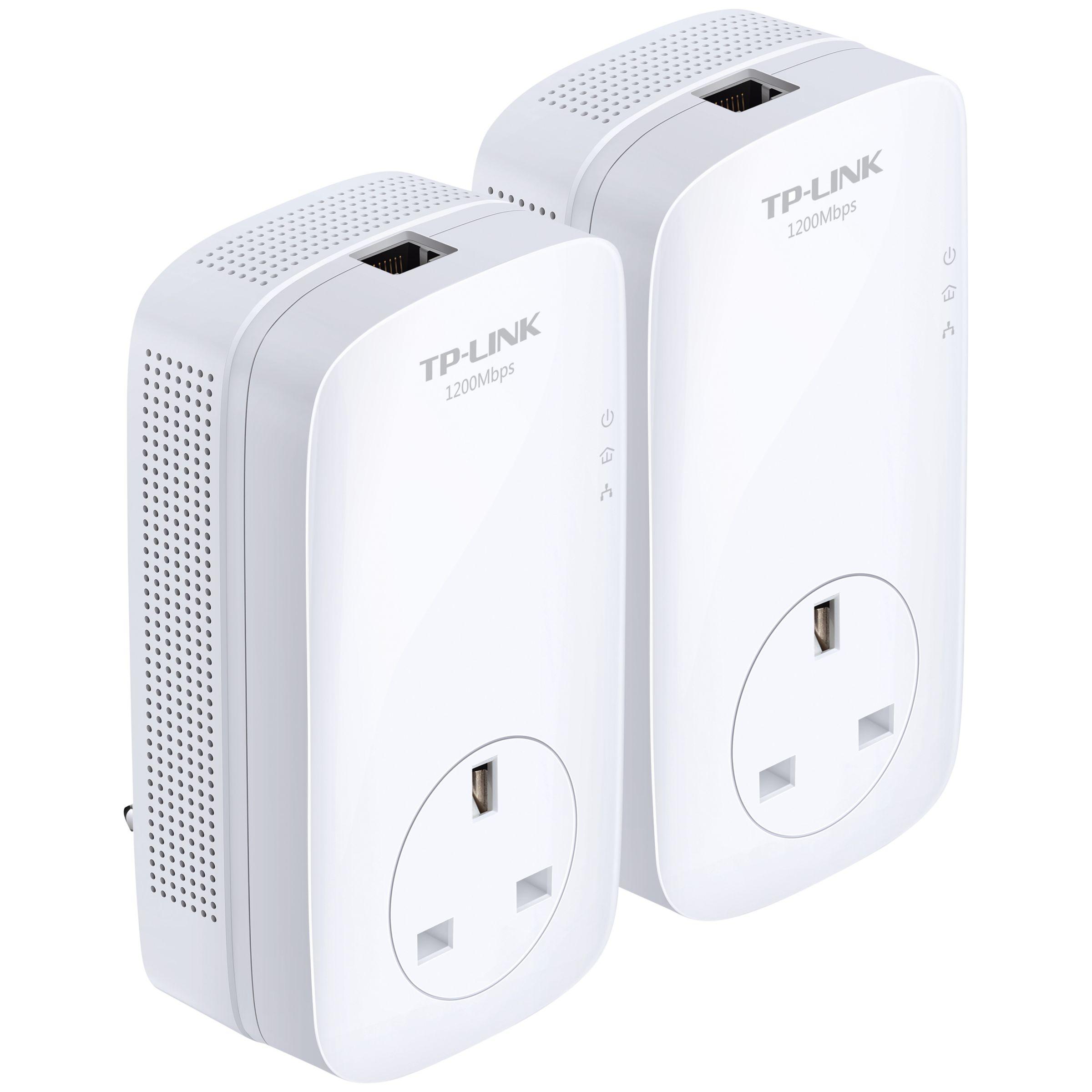 TP-Link TP-LINK AV1200 Gigabit Passthrough Powerline Starter Kit, TL-PA8010PKIT