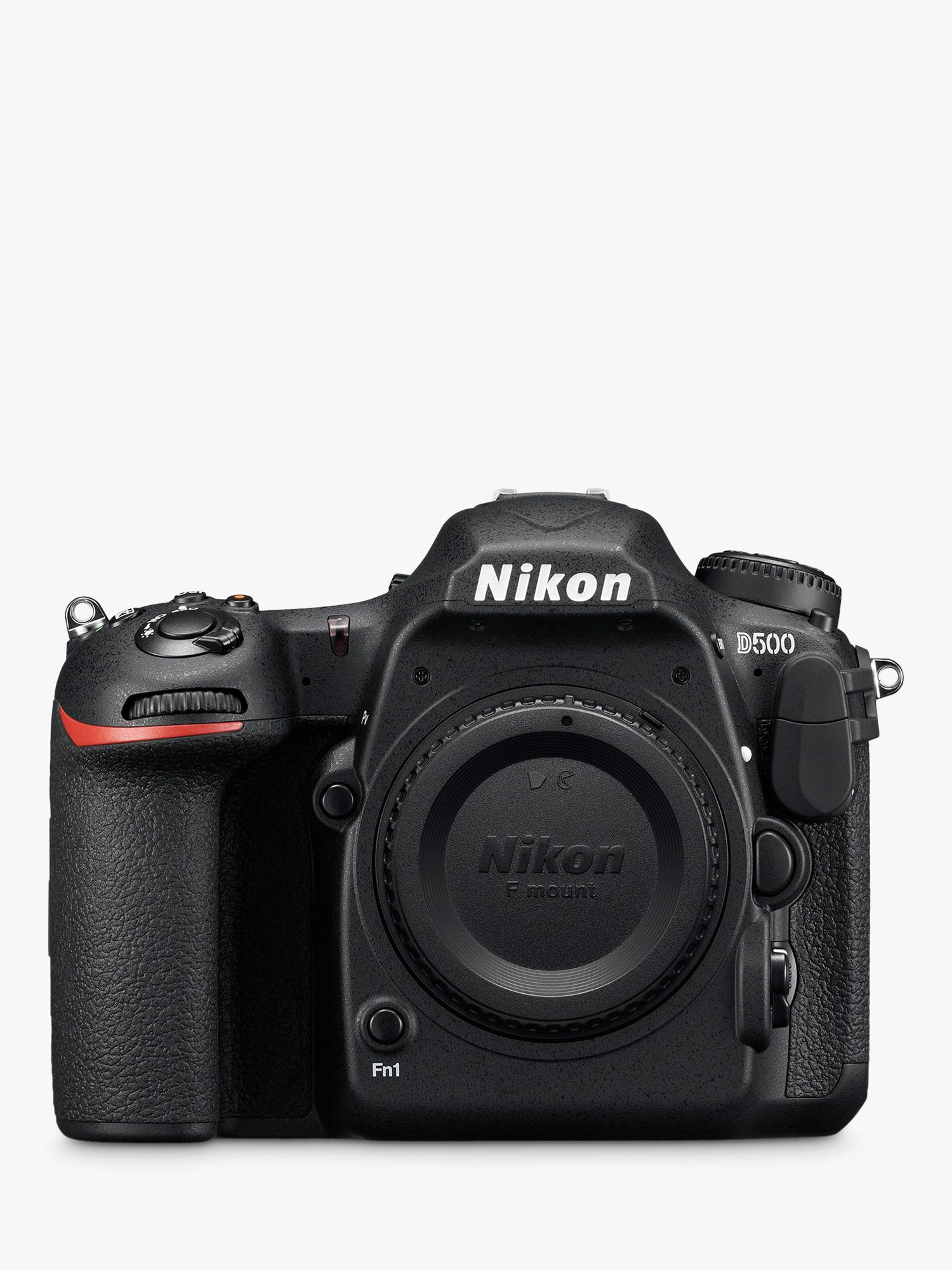 Nikon Nikon DX D500 Digital SLR Camera, 4K Ultra HD, 20.9MP, Wi-Fi/Bluetooth/NFC With 3.2 Tiltable Touch Screen, Black, Body Only