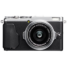 "Buy Fujifilm X70 Digital Camera, HD 1080p, 16.3MP, Wi-Fi With 18.5mm Wide Angle Lens & 3"" Touch Screen, Silver Online at johnlewis.com"