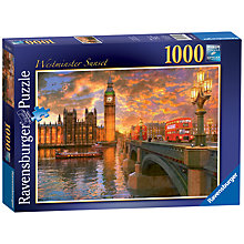 Buy Ravensburger Westminster Sunset Jigsaw Puzzle, 1000 Pieces Online at johnlewis.com