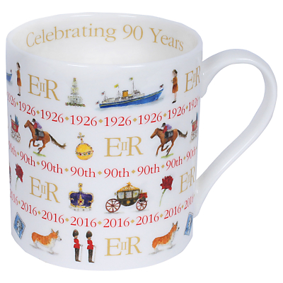 Milly Green Celebrating Britain Queen's 90th Birthday China Mug