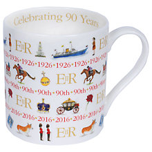 Buy Milly Green Celebrating Britain Queen's 90th Birthday China Mug Online at johnlewis.com