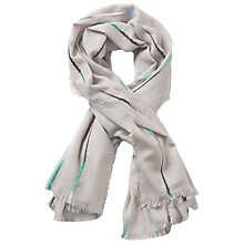Buy Betty & Co. Fringe Edge Scarf, Silver Online at johnlewis.com